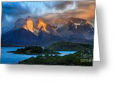 Torres Del Paine National Park, Chile Greeting Card
