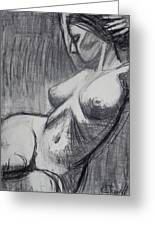 Torso 6 - Female Nude  Greeting Card