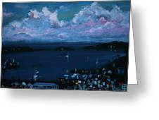 Tortola Clouds At Hill Top Greeting Card