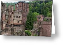 Torturm And Seltenleer Heidelberger Schloss Greeting Card