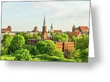 Torun Old Town Greeting Card