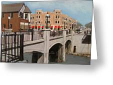 Tosa Village Bridge Greeting Card