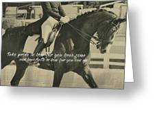 Total Communication Quote Greeting Card by Dressage Design
