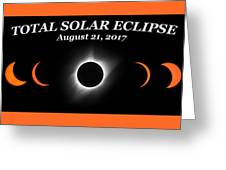 Total Solar Eclipse Stages Greeting Card