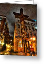 Totem In The City Greeting Card