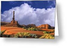 Totem Pole Monument Valley Greeting Card
