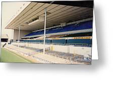 Tottenham - White Hart Lane - East Stand 3 - April 1991 Greeting Card