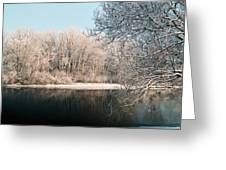 Touch Of Snow Greeting Card
