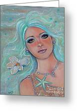 Touch Of Spring Mermaid Greeting Card