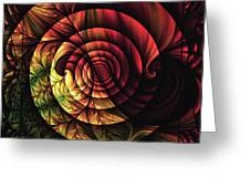 Touch Of Sunshine Abstract Greeting Card
