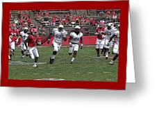 Rutgers Touchdown - Janarion Grant Greeting Card