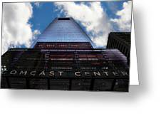 Touching The Sky - Comcast Center Greeting Card