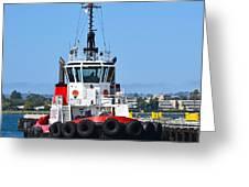Tough Tugboat Greeting Card