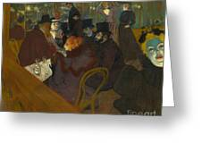 Toulouse-lautrec Moulin Rouge Greeting Card