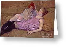 Toulouse Lautrec The Sofa Greeting Card