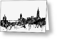 Toulouse Skyline-black Greeting Card