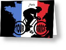 Tour De France 3 Greeting Card