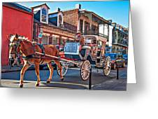 Touring The French Quarter Greeting Card