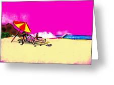 Tourist Lady Greeting Card