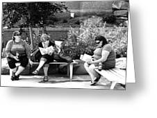 Tourists At Rest Greeting Card