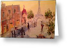 Tourists Greeting Card