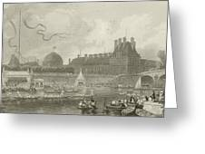 Tournay On The Seine During The July Fetes Greeting Card