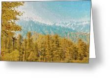 Towards Abshaar Northern Pakistan Near Nathiagali Greeting Card