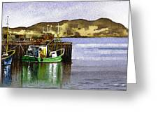 Towards Davaar From Campbeltown Greeting Card