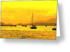 Towards Nevis Greeting Card