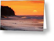 Towards The Sunset Greeting Card