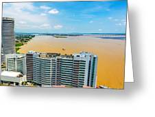 Tower And Guayas River Greeting Card