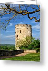 Tower At Chateau De Chinon Greeting Card