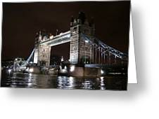 Tower Bridge By Night Greeting Card