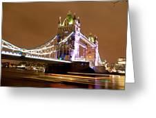 Tower Bridge Evening Greeting Card