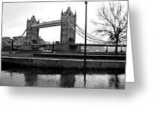 Tower Bridge In November Greeting Card