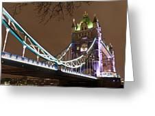Tower Bridge Lights Greeting Card