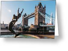 Tower Bridge, London, Uk Greeting Card