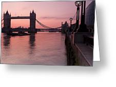 Tower Bridge Sunrise Greeting Card by Donald Davis