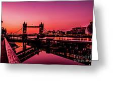 Tower Bridge, London. Greeting Card