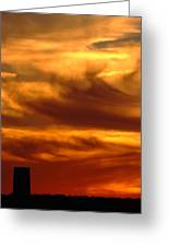 Tower In Sunset Greeting Card