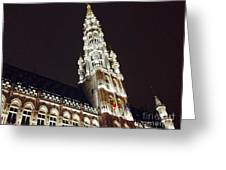 Brussels Tower Light Greeting Card