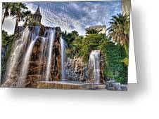 Tower Of Fountain Greeting Card