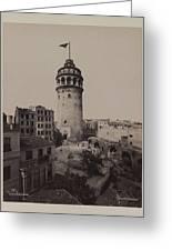 Tower Of Galata,  Greeting Card