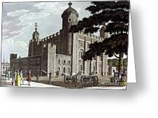 Tower Of London, 1799 Greeting Card