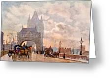 Tower Of London Bridge Greeting Card