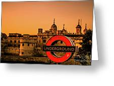 Tower Of London. Greeting Card
