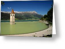Tower Of Resia Greeting Card
