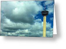 Tower Of The Americas Scene Greeting Card