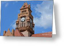 Tower Of The Decatur Courthouse  Greeting Card
