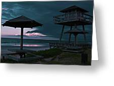 Tower Over The Shoreline Greeting Card